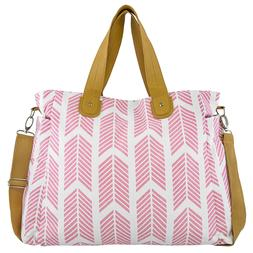 Rose Pink Arrows Weekender Tote Bag by White Elm-Diaper Napp