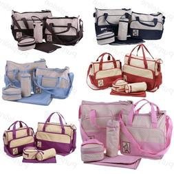 Set Multi Function Baby Diaper Nappy Changing Bag Mummy Tote