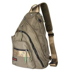 Larswon Sling Backpack, Sling Bag for Laptop, Crossbody Bag
