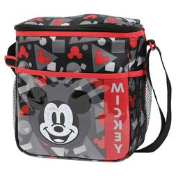 Small Baby Bottle Diaper Bag Lunch Tote Disney Mickey Black