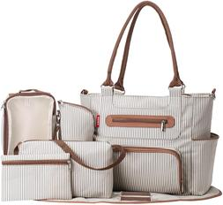 SoHo Collection, Grand Central Station 7 pieces Diaper Bag s