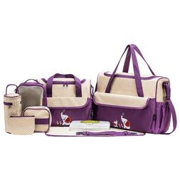 soho collections diaper bag set lavender