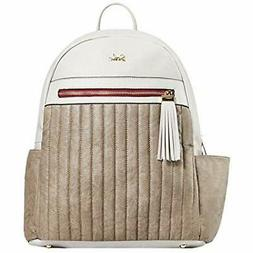 SoHo Collections Montgomery Vegan Leather Baby Diaper Bag Ba