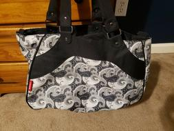 Soho Diaper Bag and accessories / Tote Travel Bag Black And