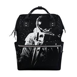 ALIREA Spaceman On Outer Diaper Bag Backpack, Large Capacity