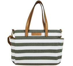 the aquila tote bag by gray stripe