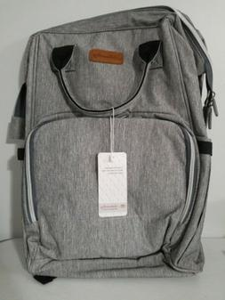 Ankommling Unisex Diaper Bag, Boy Or Girl, Color is Gray
