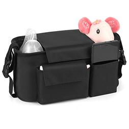 Universal Baby Stroller Organizer bag | Diaper Bag with Cup