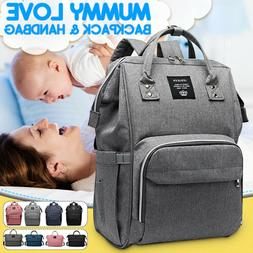 US Large Waterproof Baby Mummy Diaper Bag Maternity Nappy Tr