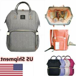 US Nappy Diaper Mummy Bag Multifunctional Travel Backpack Ha