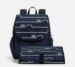 Vineyard Vines Whale Line Baby Diaper Bag Backpack & Changin