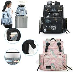 Waterproof Baby Diaper Nappy Large Capacity Backpack Mummy C