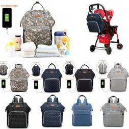 Waterproof Nappy Diaper Bag for Mom Maternity USB Charging T