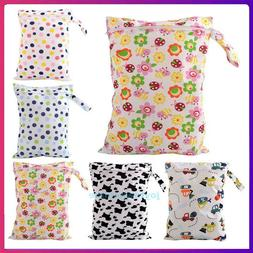 Waterproof Reusable Baby Diaper Bag Washable Wet Dry Cloth Z