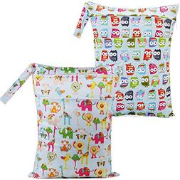 Mumsbest 2pcs Baby Waterproof Travel Wet and Dry Cloth Diape