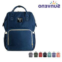 Wide Open Waterproof Baby Mommy Diaper Bag Backpack by Sunve