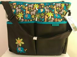 Baby Boom Wild Thing Tote Diaper Bag With Changing Pad 8 Poc