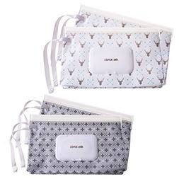 Ava & Kings 4pc Baby Wipes Travel Carrying Case Holder Dispe
