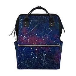 ALAZA XII Constellations Diaper Bags Mummy Backpack Multi Fu